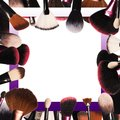 Makeup brushes isolated Royalty Free Stock Photo