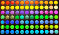 Makeup colours set