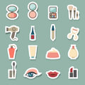 Makeup Cosmetic icons set Royalty Free Stock Photo