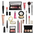 Makeup Cosmetics Accessories Realistic.Items Collection