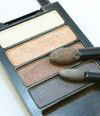 Makeup, eye shadow, a set of shades Royalty Free Stock Photo