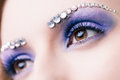 Makeup of eyes. Macro Royalty Free Stock Photo
