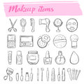 Makeup items,cosmetic icon