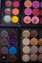 Makeup kit pallete colors used Royalty Free Stock Photo