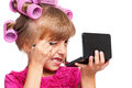 Makeup little girl Stock Images