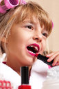 Makeup little girl Stock Photos