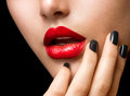 Makeup and Manicure Royalty Free Stock Photography