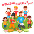 Makeup Party Illustration Royalty Free Stock Photo