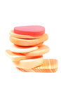 Makeup sponges beautiful shot of on white background Stock Images