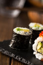Maki sushi detail Royalty Free Stock Photo