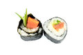 Maki sushi with salmon and avocado Stock Image