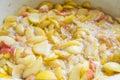 Making apple jam Royalty Free Stock Photo