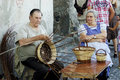 Making baskets event exhibition of antique arts and crafts location bracciano italy date july Stock Photo