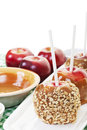 Making Candy Apples Royalty Free Stock Photo