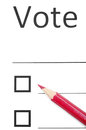 Making choice voting bulletin with red pencil to make Stock Photography