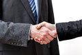Making a deal finished by business handshake Royalty Free Stock Photos