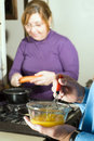 Making Dinner - vertical Royalty Free Stock Photos