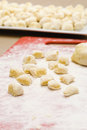 Making gnocchi Stock Photography