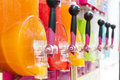 Making icy granita juice device in many colors Royalty Free Stock Photos