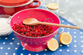 Making jam from fresh fruit Royalty Free Stock Photo
