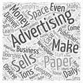 Making Money from Selling Advertising Space wordcloud concept Royalty Free Stock Photo