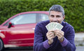 Making Money Selling Cars Stock Images