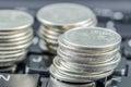 Making moning in IT world (E-commerce) Royalty Free Stock Photo