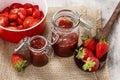 Making strawberry jam Royalty Free Stock Photo