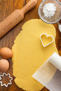 Making sugar cookies with cookie cutters Royalty Free Stock Photo
