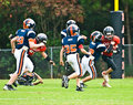 Making the Tackle/Little League Stock Image