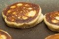 Making thick pancakes Royalty Free Stock Photo