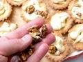 Making walnut cakes Royalty Free Stock Photos