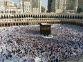 Makkah kaaba hajj muslims mecca saudi arabia august muslim pilgrims from all around the world are circumambulating the on august Royalty Free Stock Photography
