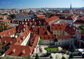 Mala strana prague czech republic red roof of the lesser town palaces and ledeburg garden Royalty Free Stock Photos