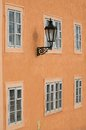 Mala strana prague windows in czech republic Royalty Free Stock Photo