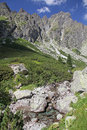 Mala studena dolina - valley in High Tatras, Slova