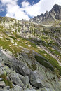 Mala studena dolina valley in high tatras slovakia mountains Royalty Free Stock Photo