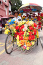 Malacca Bicycle Rickshaw Stock Photos