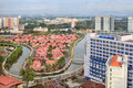 Malacca Cityscape with Melaka River Royalty Free Stock Photo