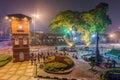 Malacca, Malaysia - circa September 2015: Melaka Clock Tower at Dutch Square in Malacca,  Malaysia Royalty Free Stock Photo