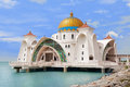 Malacca Straits Mosque Royalty Free Stock Photo