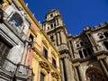 Malaga cathedral city spain Royalty Free Stock Photo