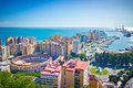 Malaga city spain beautiful view of Stock Photography