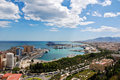 Malaga Cityscape - Harbor Royalty Free Stock Photo