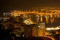 Malaga by night Royalty Free Stock Photos
