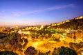 Malaga, Spain Cityscape on the Sea Royalty Free Stock Photo