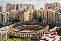 Malaga spain view of bullring located in the heart of the city Royalty Free Stock Photo