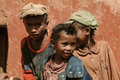 Malagasy children young boys of ethnicity merina in a village on may near antananarivo in the highlands of madagascar Royalty Free Stock Images