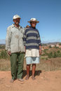 Malagasy couple a of persons of merina ethnicity posing on jun in the campaign near antananarivo madagascar Stock Image