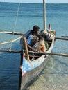 Malagasy Fisherman Royalty Free Stock Photography